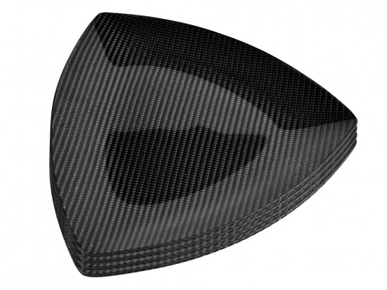 Dobreff Design Carbon Fiber Triangle Plate 4 Piece Set - Medium