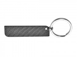 Carbon Touch Solid Carbon Fiber Rectangle Keychain - Large