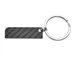 Carbon Touch Solid Carbon Fiber Rectangle Keychain - Small