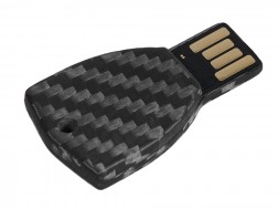 Carbon Touch Key-Shaped Carbon Fiber 4GB USB Keychain - Small