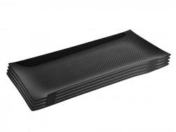 Dobreff Design Carbon Fiber Rectangle Plate 4 Piece Set - Medium