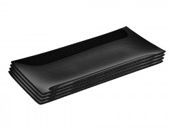 Dobreff Design Carbon Fiber Rectangle Plate 4 Piece Set - Small