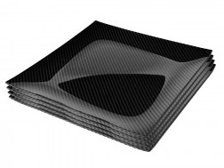Dobreff Design Carbon Fiber Square Plate 4 Piece Set - Extra Large