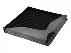 Dobreff Design Carbon Fiber Square Plate 4 Piece Set - Large