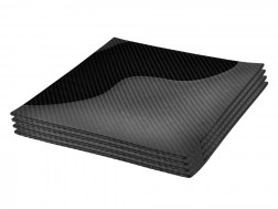 Dobreff Design Carbon Fiber Square Plate 4 Piece Set - Medium
