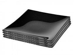 Dobreff Design Carbon Fiber Square Plate 4 Piece Set - Small